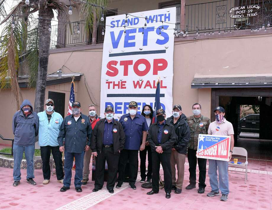 A press conference was held Thursday, Sept. 10 at the American Legion Post 59, where veterans announced the formation of a new group called Veterans United to Stop the Wall. Photo: Cuate Santos / Laredo Morning Times / Laredo Morning Times