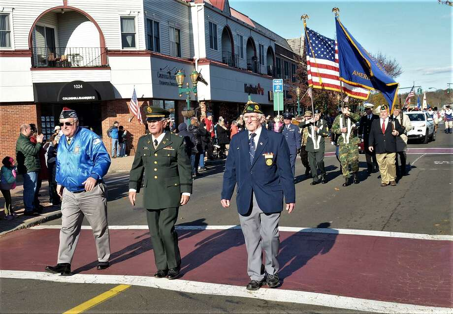 Scenes from the 2018 Branford Veterans Day Parade. Photo: Bill O'Brien / Contributed