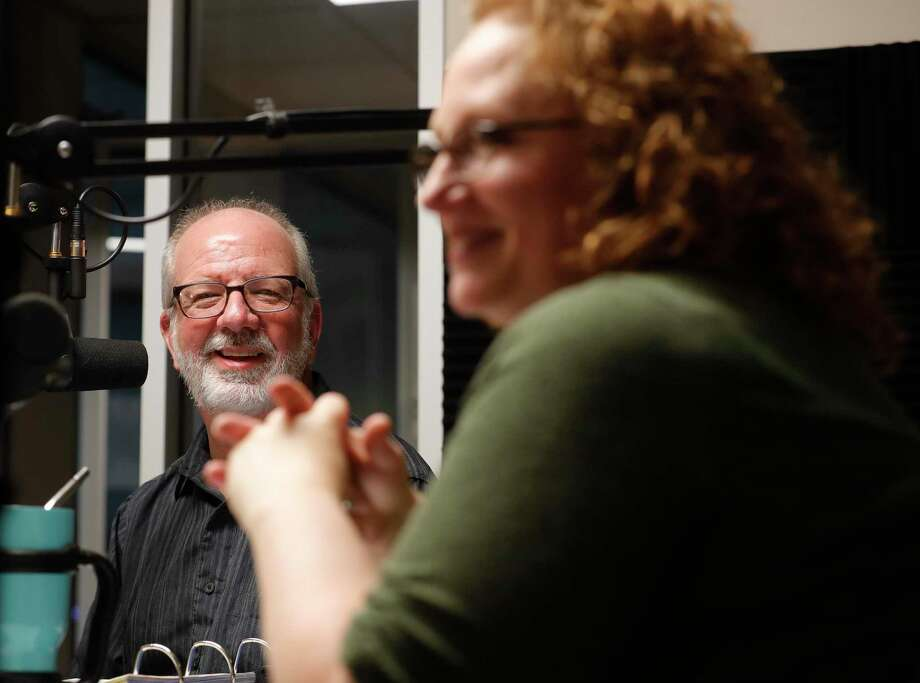 Steven Meeker, left, and Leah Lamp host The Remnant Stew podcast. Photo: Jason Fochtman, Houston Chronicle / Staff Photographer / 2020 © Houston Chronicle