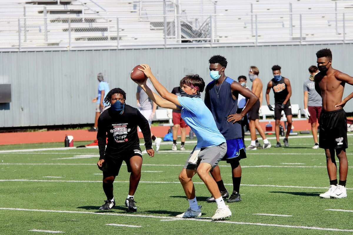 Pearland football players were to begin full-contact practice on Saturday in preparation for a scrimmage against Cy Fair on Thursday.