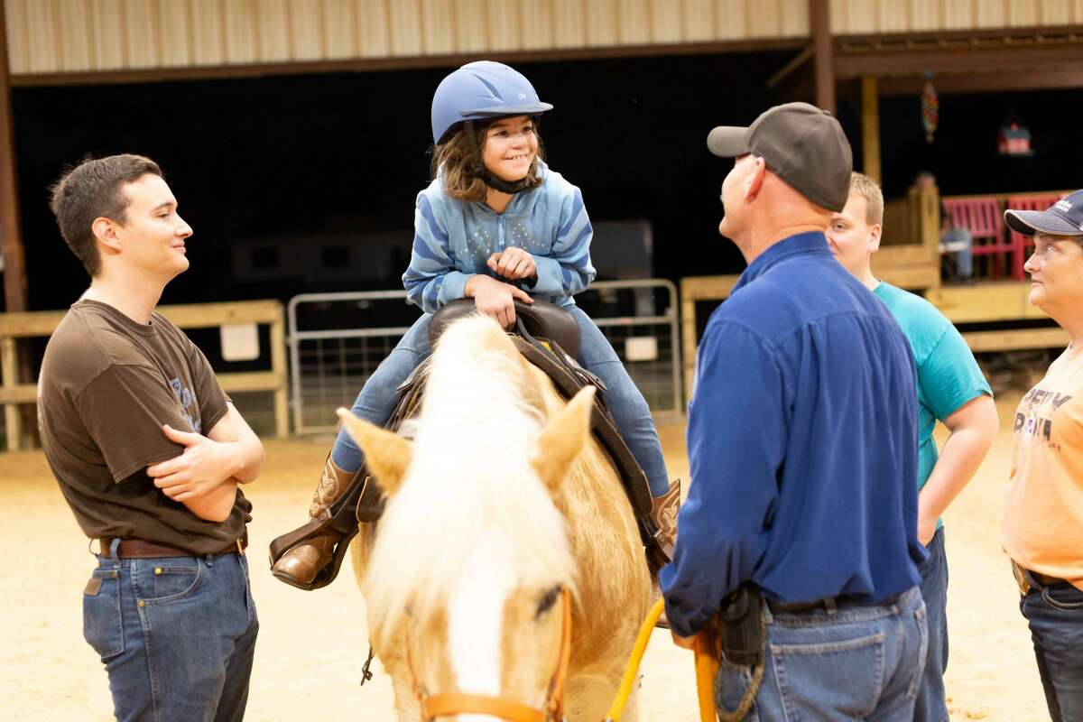 There is always a waiting list for special needs individuals eager to ride horses at the Alvin facility