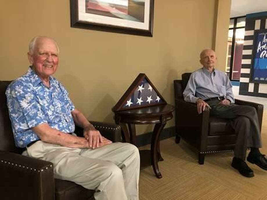 WWII veterans/Elim Park residents, Dick Shank, left, and Luis Forsell. Photo: Contributed Photo
