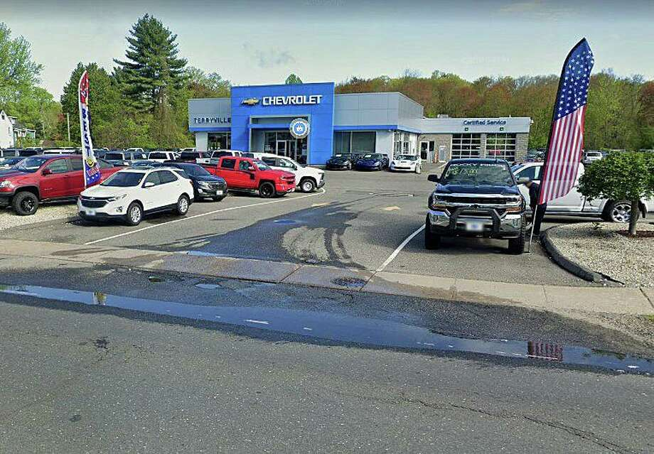 Two men - one from Stratford and the other from Bridgeport - were arrested on Thursday, Sept. 10, 2020 in Plymouth. Police said the two were arrested in connection with an attempt to purchase a $70,000 Corvette at Terryville Chevrolet by using someone else's stolen identity. Photo: Google Street View Image