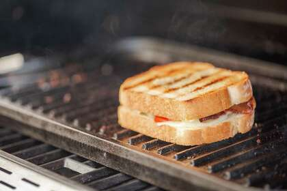 A cast-iron griddle is perfect for toasting bread or sandwiches.