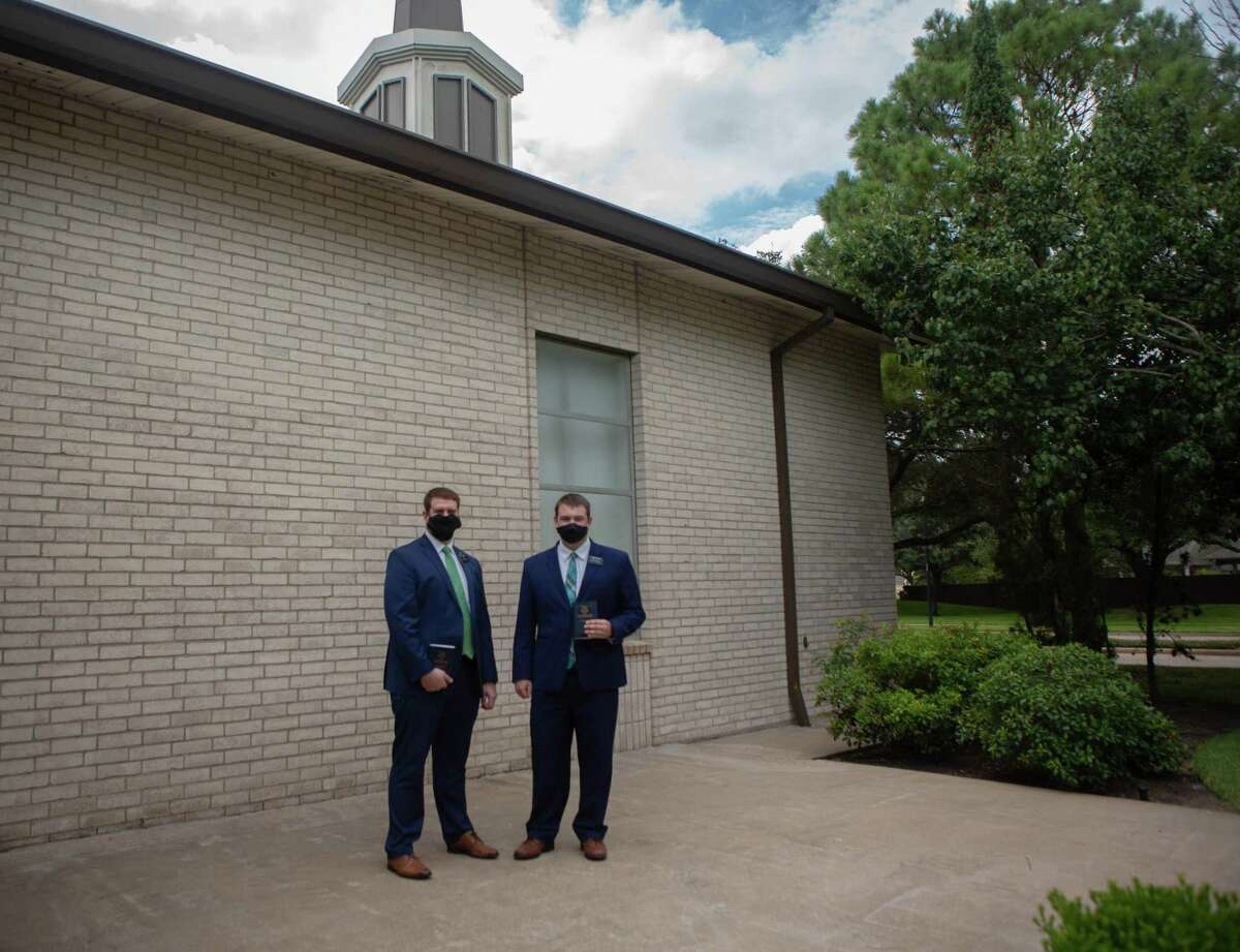 Elders Tanner Hubbard, left, and Loren Butler have altered their approach to reaching people.