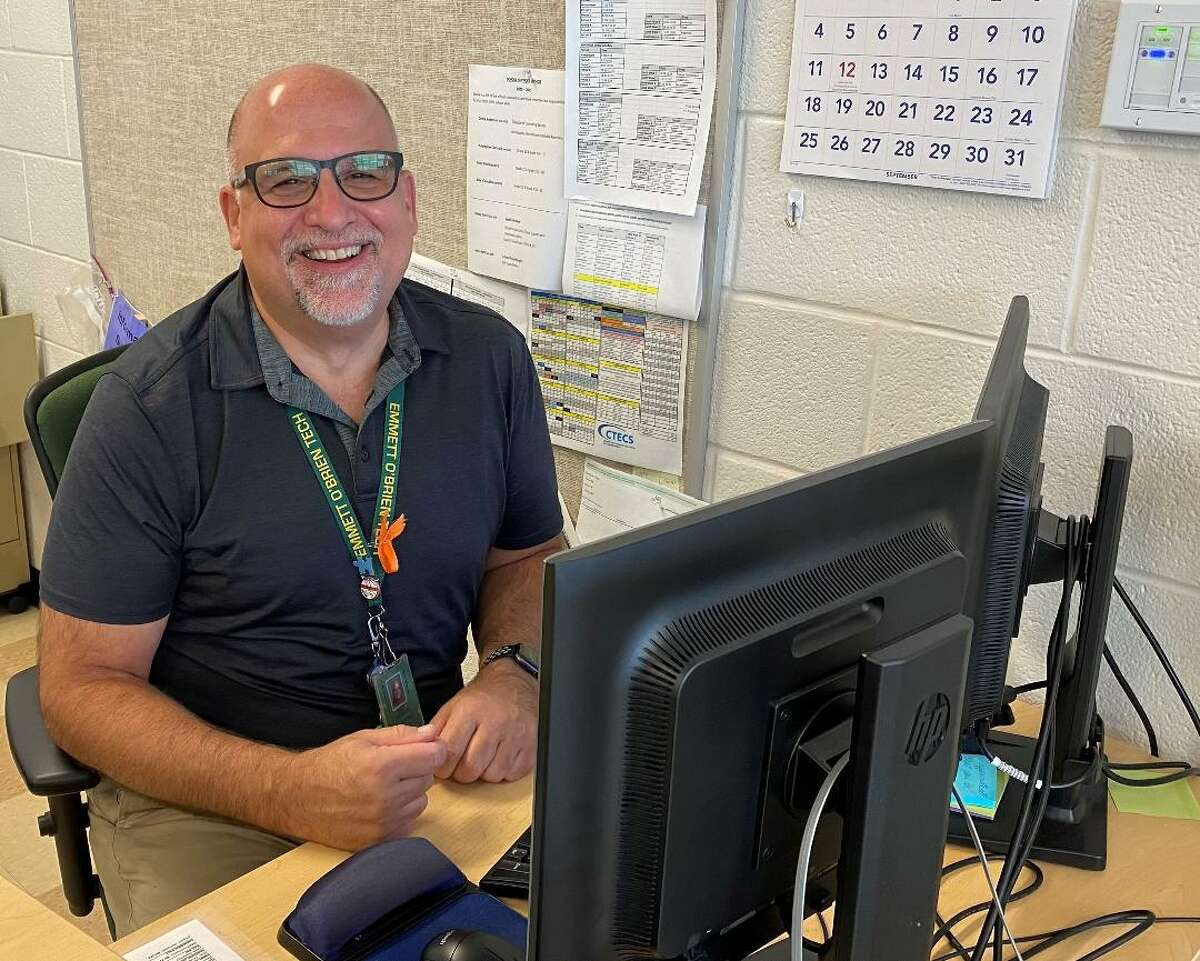Ray Moran, the head of Emmett O'Brien Technical High School 's Information System Technology Department, has been named Teacher of the Year.