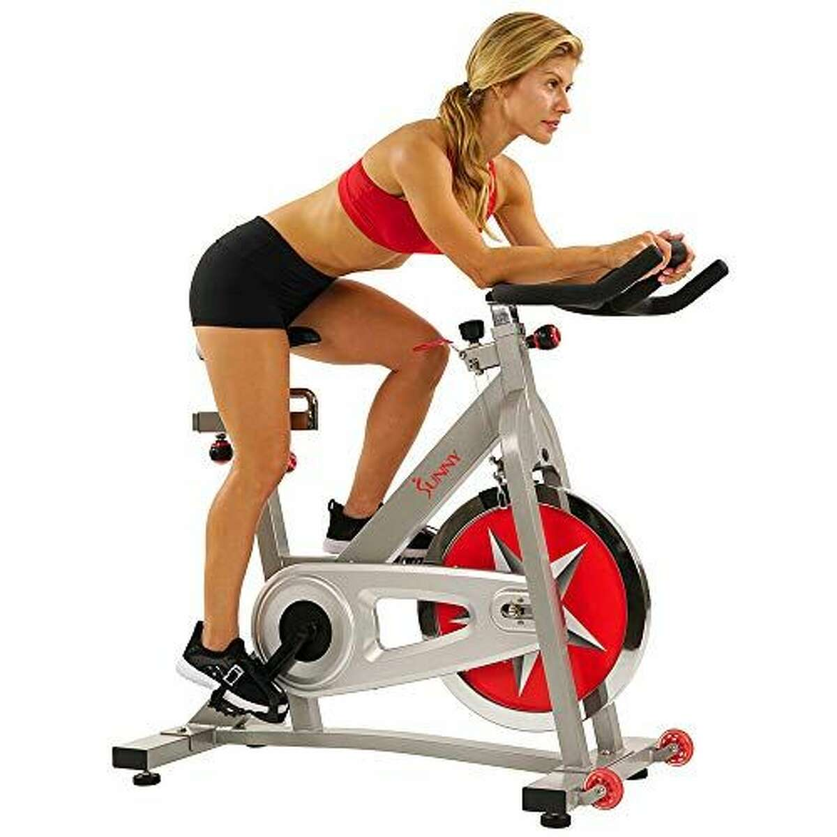 2) Sunny Health & Fitness Pro Indoor Cycling Bike: $299.99 CHECK PRICE This no-frills bike might not have all the bells and whistles of other models, but it'll get the job done-for less than $350. Use it with your favorite app or on its own for an endorphins boost and a great sweat sesh.
