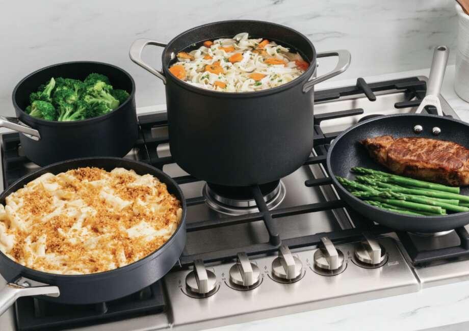 Ninja™ Foodi™ NeverStick™ Premium Hard-Anodized 10-Piece Cookware Set, $299.99 at Best Buy and Bed, Bath & Beyond Photo: Bed, Bath & Beyond