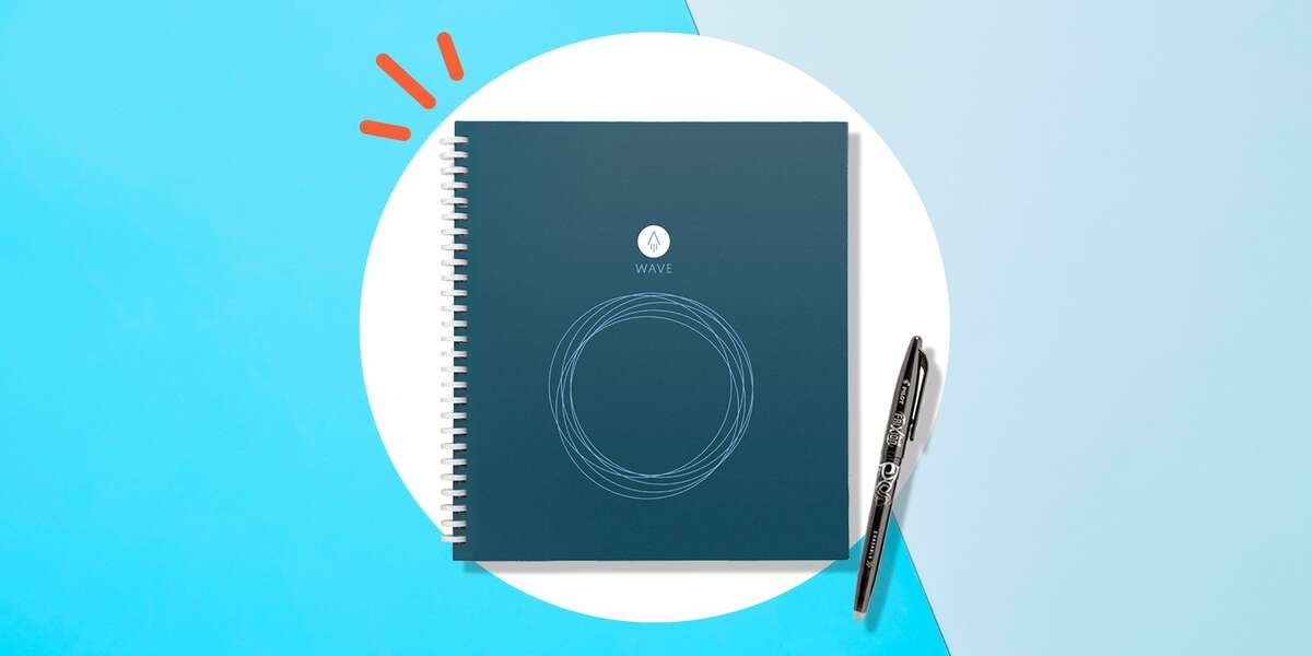 The Rocketbook Wave Smart Notebook Is On Sale: The Rocketbook Wave Smart Notebook on Amazon allows you to scan your notes into a cloud, so that you can reuse the notebook's pages by microwaving them.