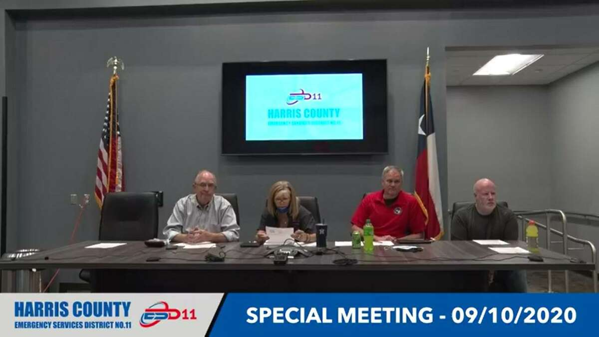 The Harris County ESD No. 11 board of commissioners meet for a special meeting in September.