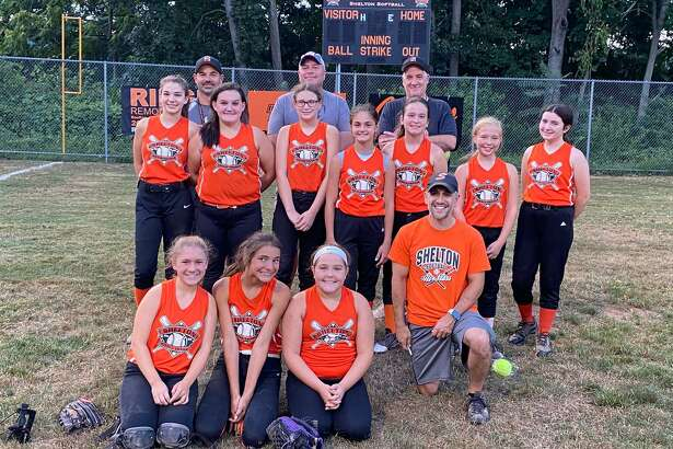 ?The Shelton National Little League Orange Softball Team won the Majors Championship on August 24th. The Orange team includes: Salina Clemente, Gina Coppola, Sammi Denihan, Cara Fahey, Sofia Guelakis, Madison Jensen, Julia Lawrence, Abby Montero, Tori Silva and Kassidy Ventrella. Coaches Eugene Clemente, Greg Coppola, Marty Denihan and John Fahey.