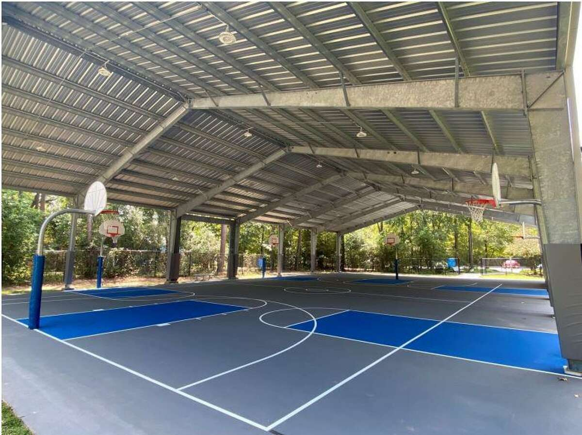 The Woodlands Township has a new covered sports court for rental use by both residents and non-residents. The new covered courts facility is located inside Bear Branch Park off Research Forest Drive. The facility is open daily from 8 a.m. to 11 p.m. with rental fees and a list of rules that must be followed by users.