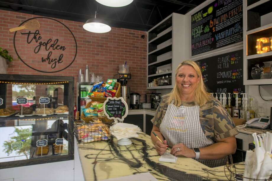 The Golden Whisk owner Lacey Bavousett poses for a picture Friday, Sept. 11, 2020 at 3211 Wadley Drive Suite 5. Jacy Lewis/Reporter-Telegram Photo: Jacy Lewis/Reporter-Telegram