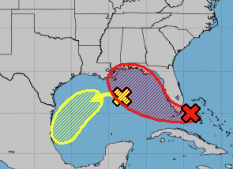 A pair of disturbances kick up moisture levels in and around Houston, meaning there are elevated chances for rain starting Sunday, Sept. 13, 2020. Photo: National Hurricane Center