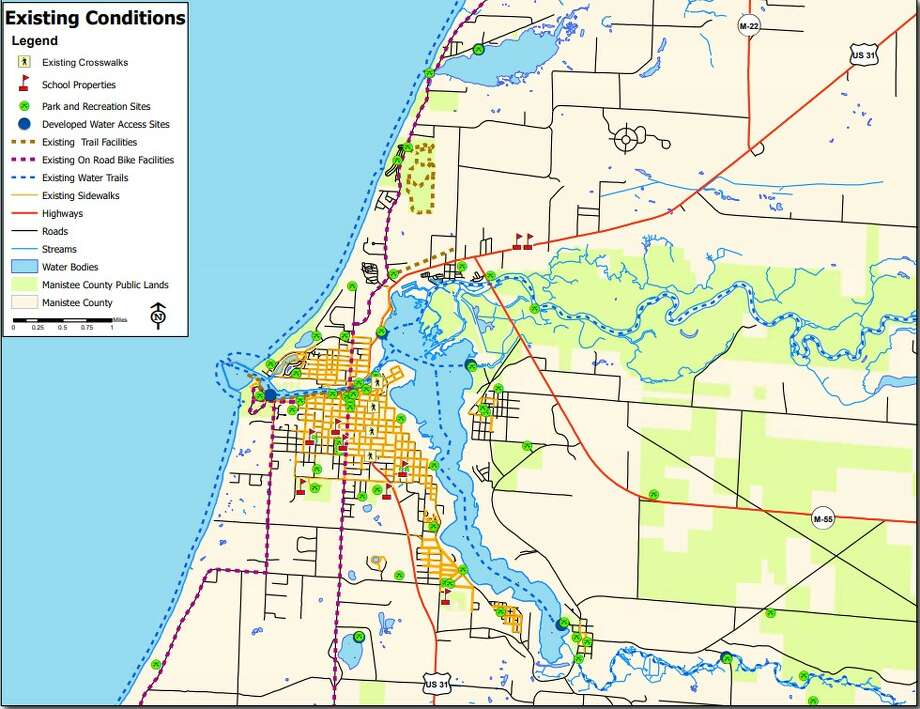 The Manistee County Planning Department's non-motorized plan builds on existing trails to make walking and biking more accessible throughout the county. Photo: (Screenshot/Manistee County Website)
