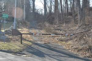 A portion of Turner Road that has long been blocked off an unused is an issue of contention concerning a proposed nine-unit affordable housing project in Ridgebury.