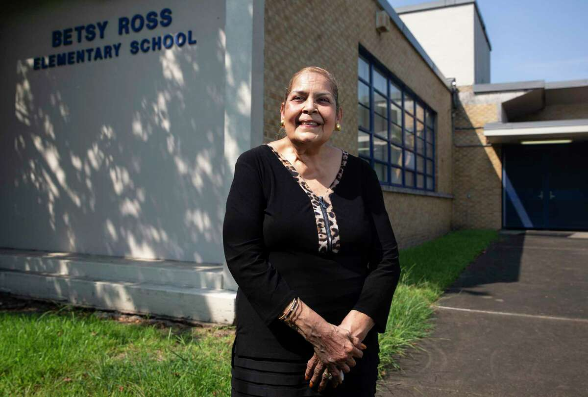 Burnell Loche, 66, poses for a photograph Friday, Sept. 11, 2020, at Betsy Ross Elementary School in Houston. Loche was one of 12 Black students to first attend previously all-white campuses in 1960 when desegregation began in Houston ISD, enrolling in Betsy Ross Elementary School. The experience shaped Loche's views on education and integration, an ethos now passed down to the generations.