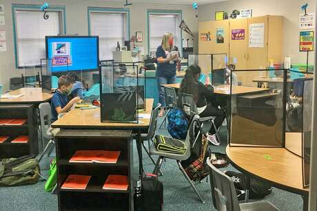 Cy-Fair ISD implements health protocols for in-person learning, which include wearing masks and the use of desk shields. Cy-Fair ISD began school Sept. 8, 2020 with both online and on-campus instruction.
