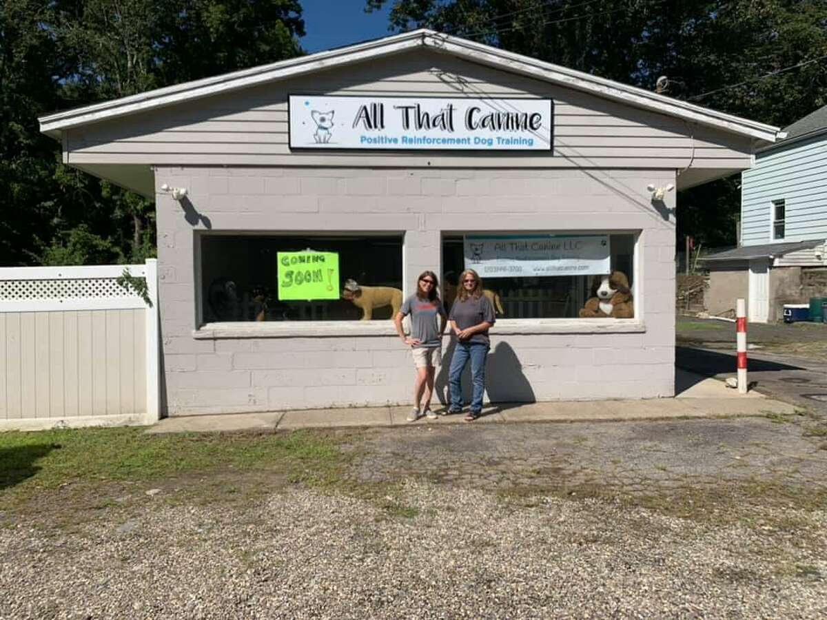 Erica Kasper and Linda Mazzeo, the co-owners of All That Canine.
