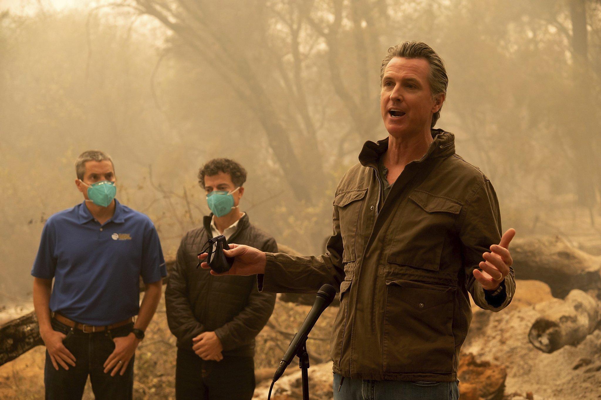 This is a climate damn emergency,' California's Gavin Newsom says