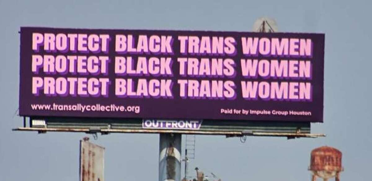 Writer Dee Dee Watters says an easy way to spread awareness is to post a selfie to social media with the Protect Black Trans Women billboard located at Interstate 10 and Gregg Street.