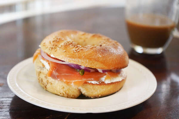 Kossar's Bagels & Bialys has been a fixture in the New York City bagel scene since 1936. I recently ordered a dozen to try for the first time. Pictured is its hand rolled sesame bagel with cream cheese, lox, red onion, and capers.