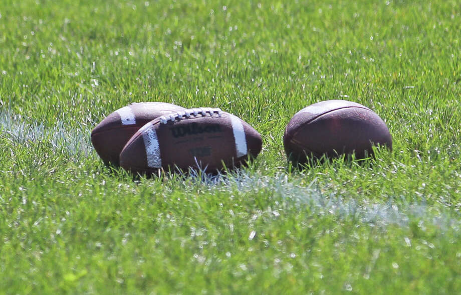 The Harbor Beach Pirates varsity football team practiced under sunny skies on Friday afternoon as they prepared for Week 1 of the MHSAA football season, which kicks off Sept. 18. Photo: Mark Birdsall/Huron Daily Tribune