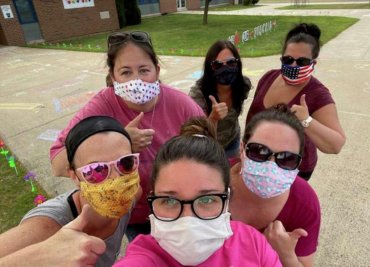 Liz Shipman, Allie Bianchi, Jen Conroy, Susann Rivera, Michele Pecoraro and Kate Aldrich are PTO board members at John F. Kennedy Elementary School in Milford.