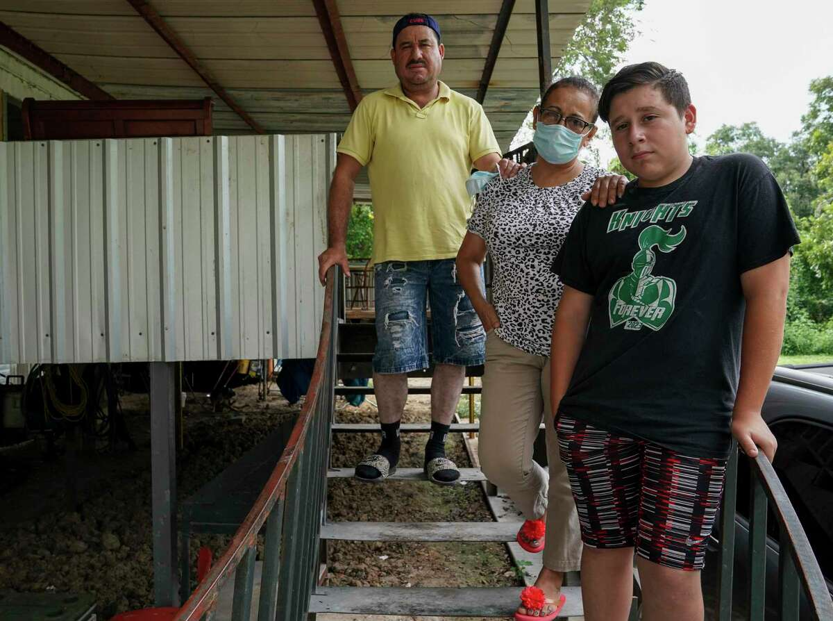 Jose Diaz, wife Gloria, and son Steven are being forced to move under Harris County's mandatory home buyout program.