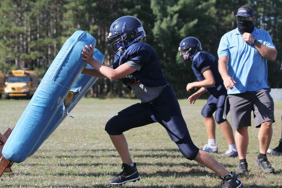 The Brethren football team practices Friday, Sept. 11, in preparation for the season to officially start on Sept. 18. Photo: Dylan Savela/News Advocate