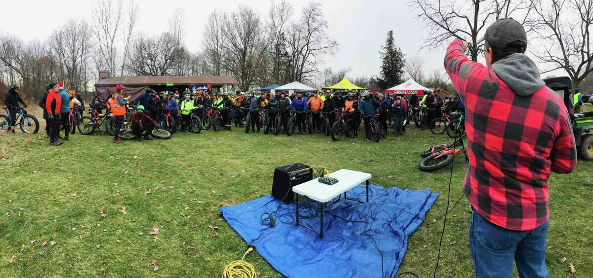 A scene from 2019's Global Fat Bike Day at Sleepy Hollow State Park in Clinton County. (MI DNR/Courtesy Photo)