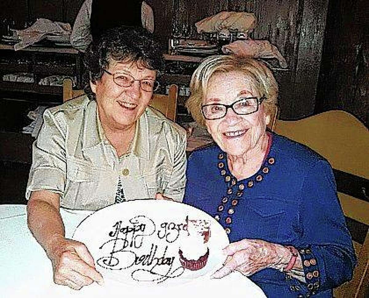 Nancy Menees Hardesty (left) wrote her first novel,