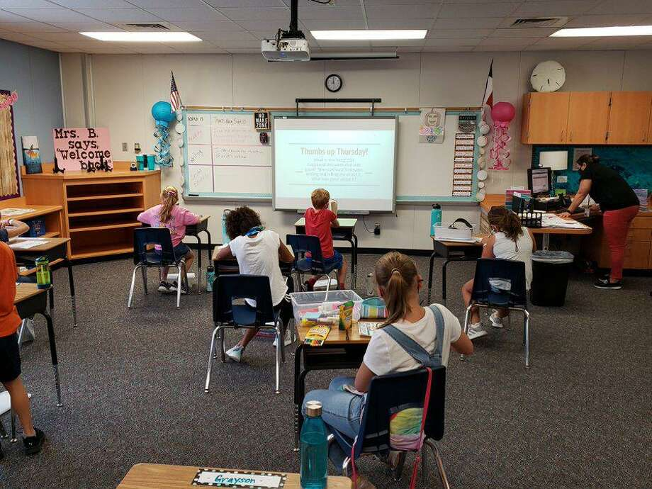 Tomball ISD students experienced their first day of school either face-to-face or virtual, Tuesday, Sept. 8, some returning to campus for the first since COVID started in March. Photo: Photos Courtesy Of Tomball ISD