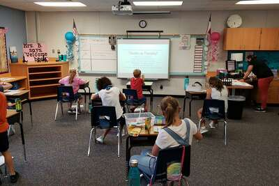 Tomball ISD students experienced their first day of school either face-to-face or virtual, Tuesday, Sept. 8, some returning to campus for the first since COVID started in March.