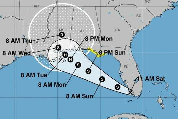 The storm is set to bring heavy rain, strong winds, and a potential storm surge flooding threat to portions of the Gulf Coast.