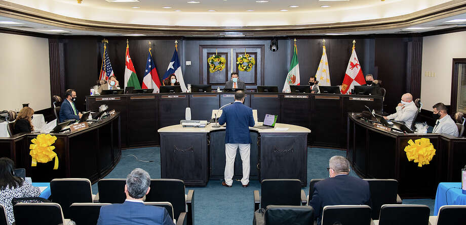 Laredo City Council members discuss expanding options for citizen's commenting during council meetings, Tuesday, Sep. 8, 2020, at City Hall. Photo: Danny Zaragoza/Laredo Morning Times