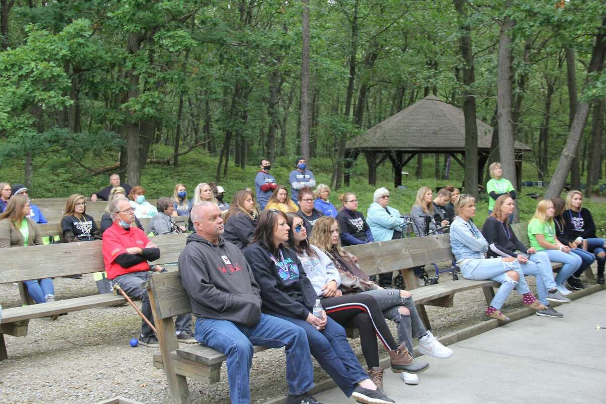 The 9th annual Walk for Awareness, put on my the Huron County Suicide Prevention Coalition, took place on Saturday morning at the Huron County Nature Center. About 50 people attended to partake in the walk through the Nature Center's woods.