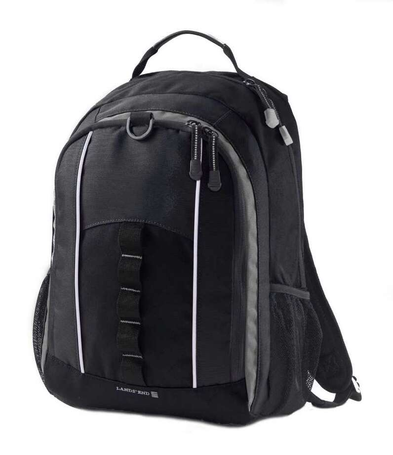 Boys Solid Study Haul Backpack Nautical Navy (Lands End)