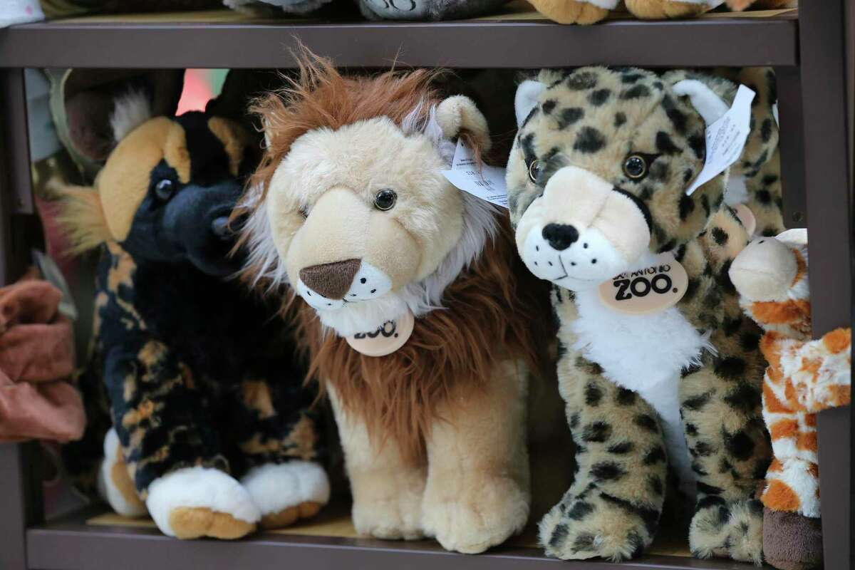 Plush toys are offered for sale. The Drive-Thru Zoo experience has turned out to be so popular that San Antonio zoo officials have decided to allow motorists to continue visiting the zoo in their own automobile permanently. Other zoos in Phoenix and Toronto are copying the experience.
