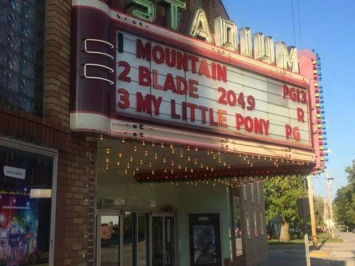The Stadium Theater in Jerseyville, currenty closed as a pandemic precaution, may delay its reopening pending virus positivity rates for the area.