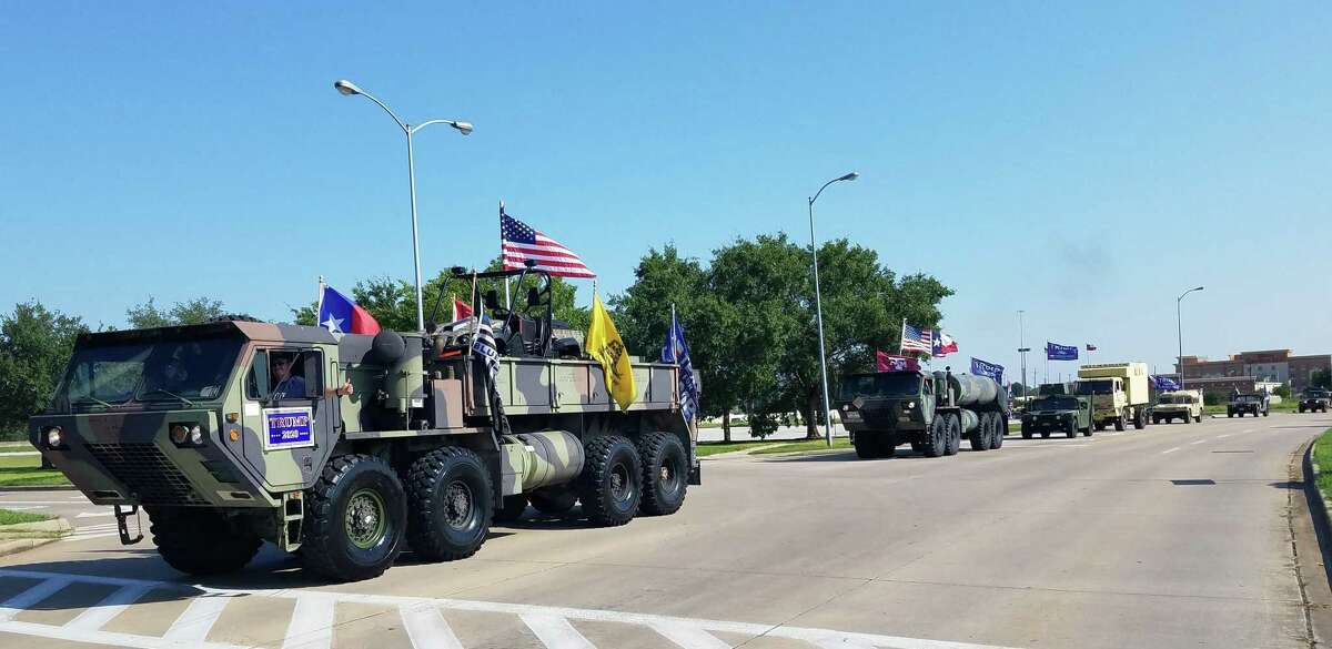 A parade of cars traverse through Katy, Richmond, Fulshear and Simonton in support of Donald Trump on Sept. 12.