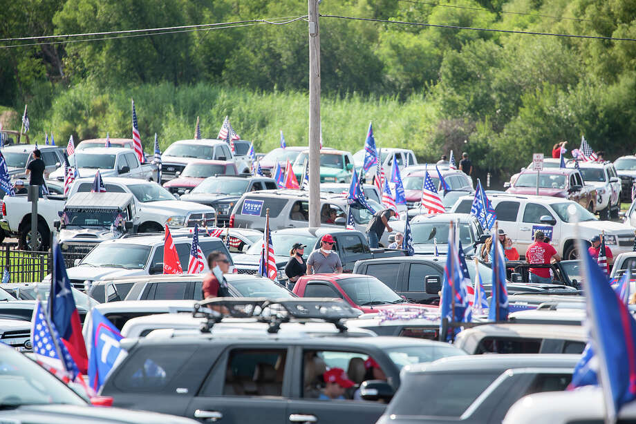 Supporters of President Donald J. Trump from Laredo and surrounding areas gather at the banks of the Rio Grande, Saturday, Sep. 12, 2020, as they prepare to drive through Laredo as the Trump Train. Photo: Danny Zaragoza/Laredo Morning Times