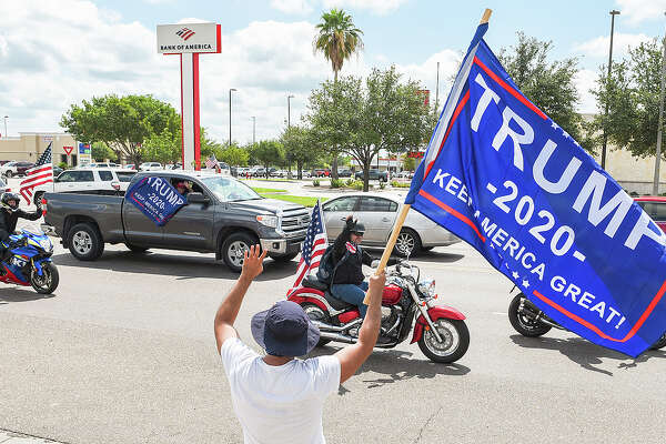 Supporters of President Donald J. Trump from Laredo and surrounding areas make their way down Del Mar Blvd, Saturday, Sep. 12, 2020, during Laredo's Trump Train event.