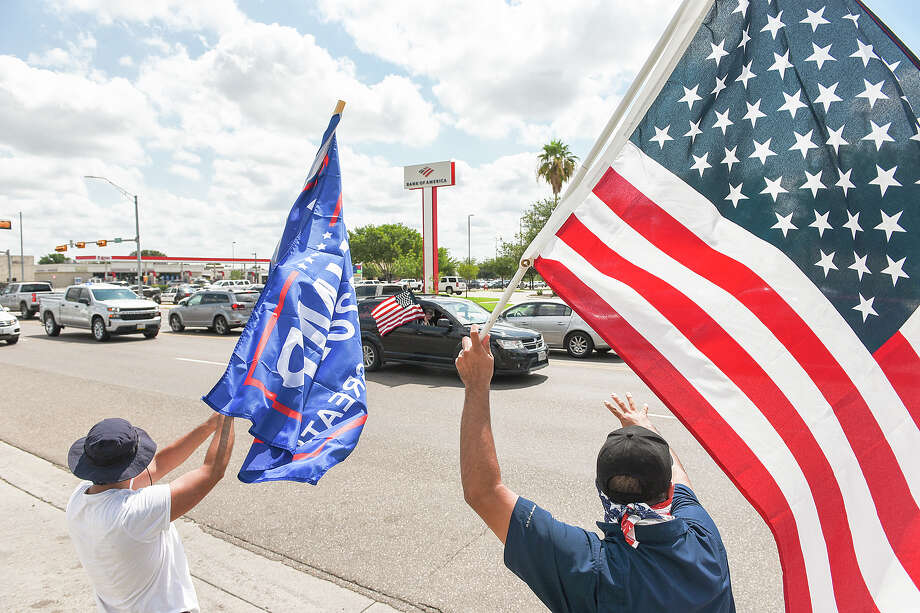 Supporters of President Donald J. Trump from Laredo and surrounding areas make their way down Del Mar Blvd, Saturday, Sep. 12, 2020, during Laredo's Trump Train event. Photo: Danny Zaragoza/Laredo Morning Times