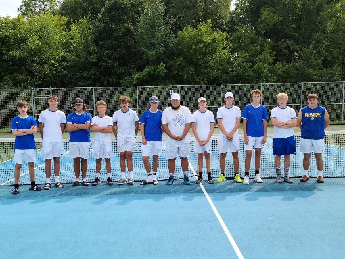 Midland High won the Flushing tennis quad on Saturday.