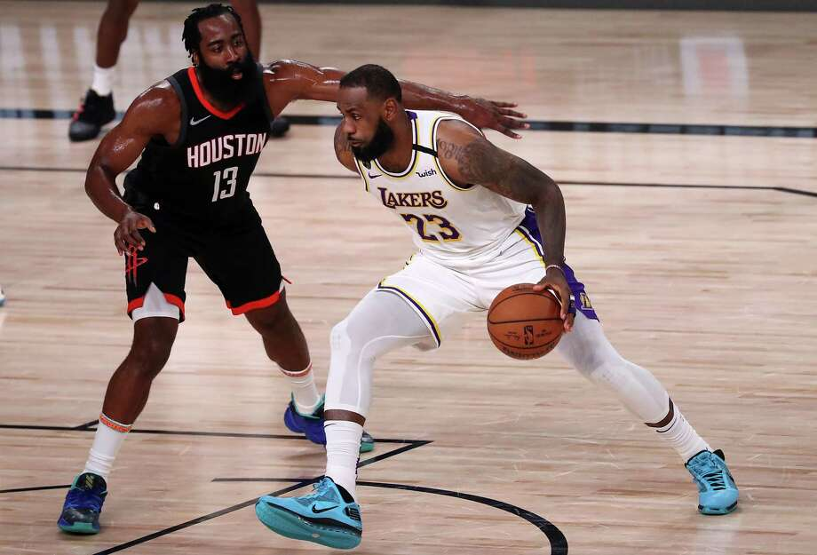 LeBron James sneakers are among the items to be auctioned off by the New York State Office of General Services. (Photo by Michael Reaves/Getty Images) Photo: Michael Reaves / 2020 Getty Images