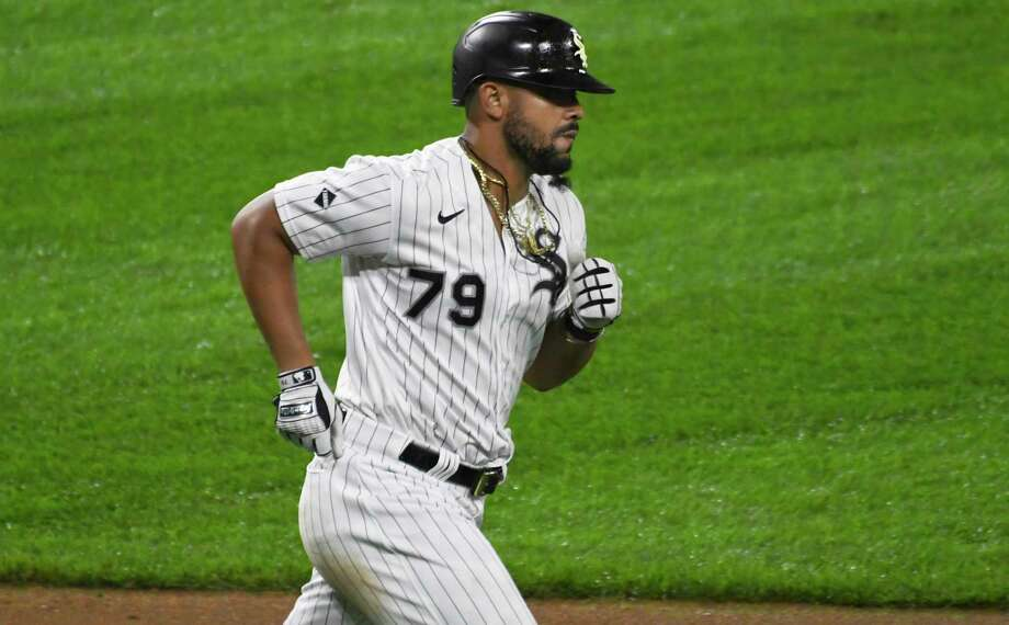 Chicago White Sox's Jose Abreu (79) runs the bases after hitting a three-run home run against the Detroit Tigers during the fifth inning of a baseball game, Saturday, Sept. 12, 2020, in Chicago. (AP Photo/David Banks) / Copyright 2020 The Associated Press. All rights reserved.