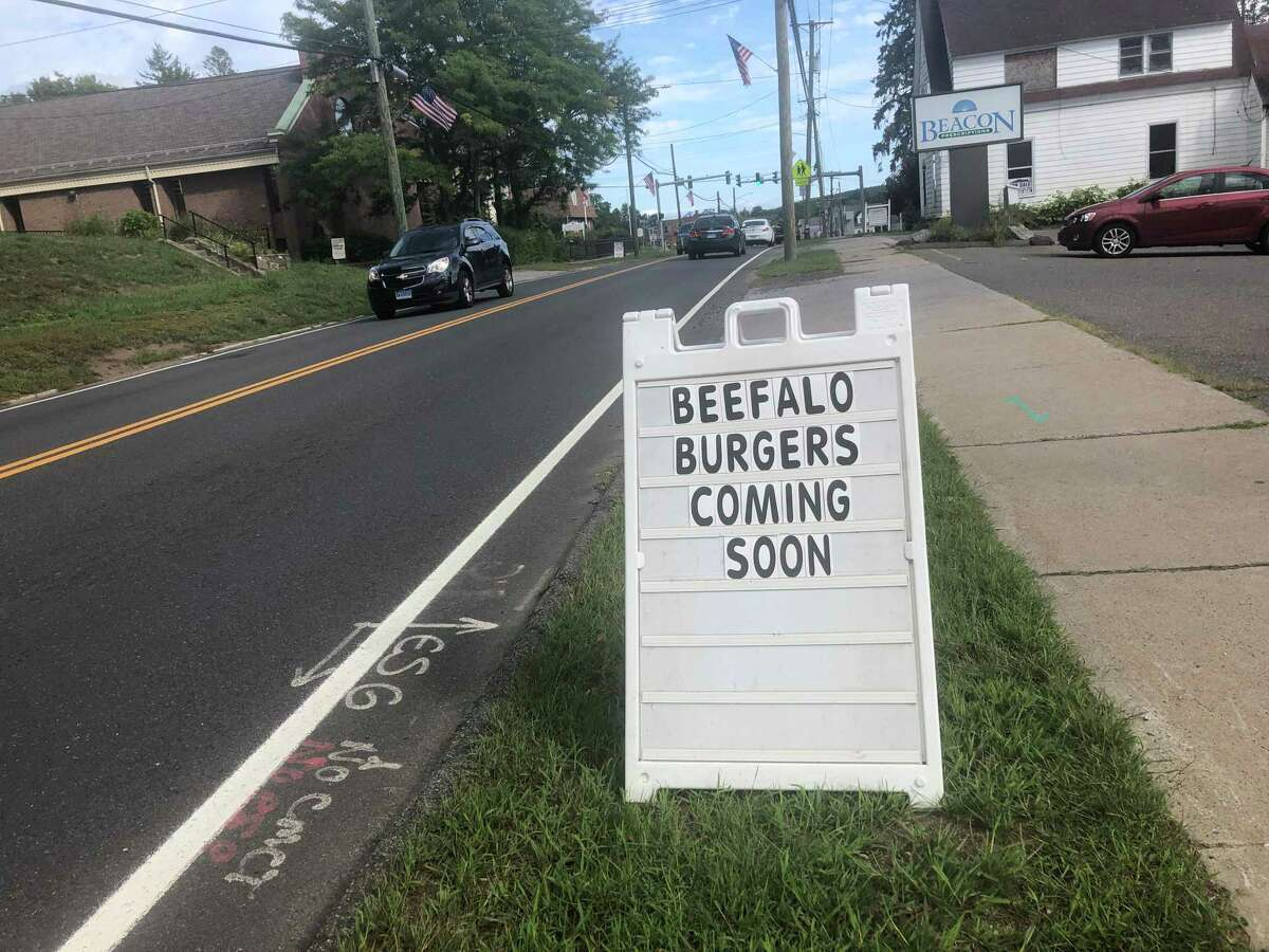 The American Legion in Plymouth advertises Beefalo Burgers.