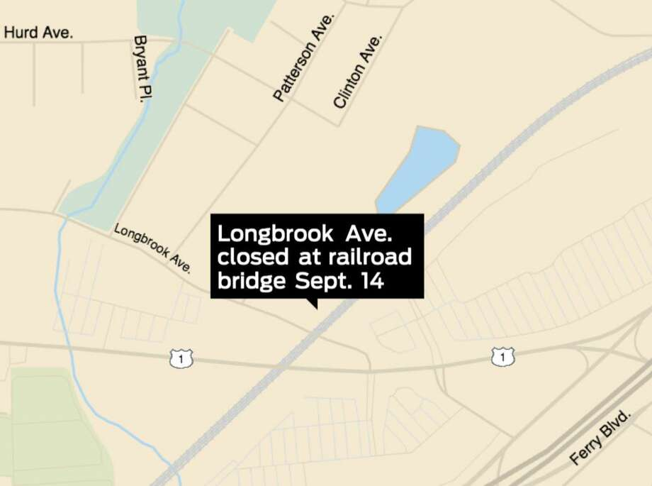 Longbrook Avenue in Stratford will be closed at the railroad bridge for two to four weeks starting Monday, Sept. 14, to allow construction of a road to haul contaminated waste from the former Contract Plating site to the former Raymark Ballfield. Photo: John Kovach / Hearst Connecticut Media / Connecticut Post