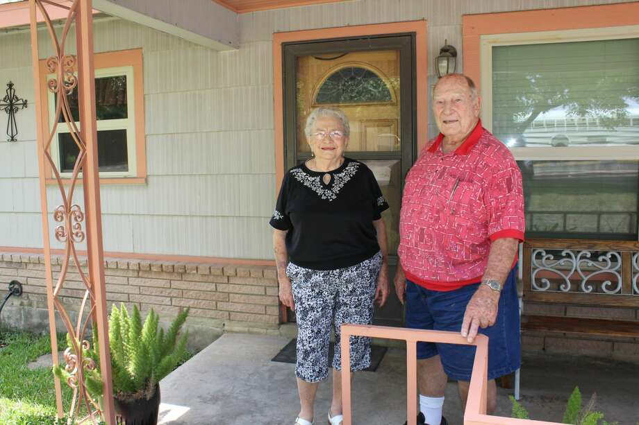 """Henry """"Hank"""" Hannasch and his wife, Rose Marie, have lived in their house in Balcones Heights for 64 years. Photo: Lisa Harrison Rivas"""